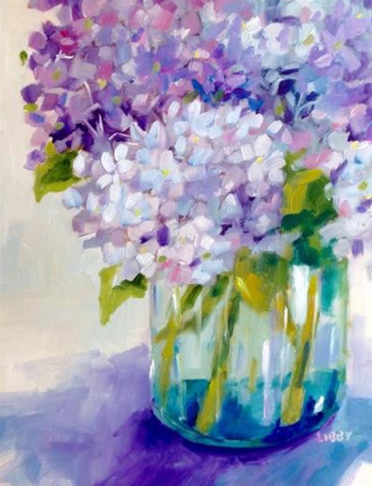 """Violet Vibe"" original fine art by Libby Anderson"