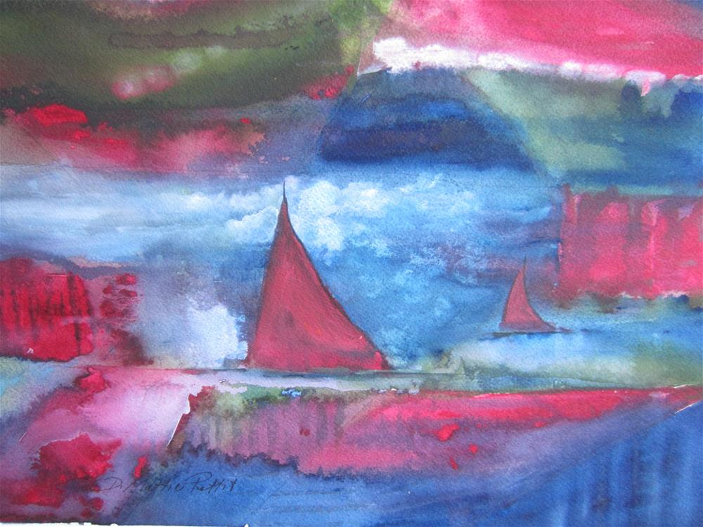 """Stormy Sea"" original fine art by Dolores Pettit"