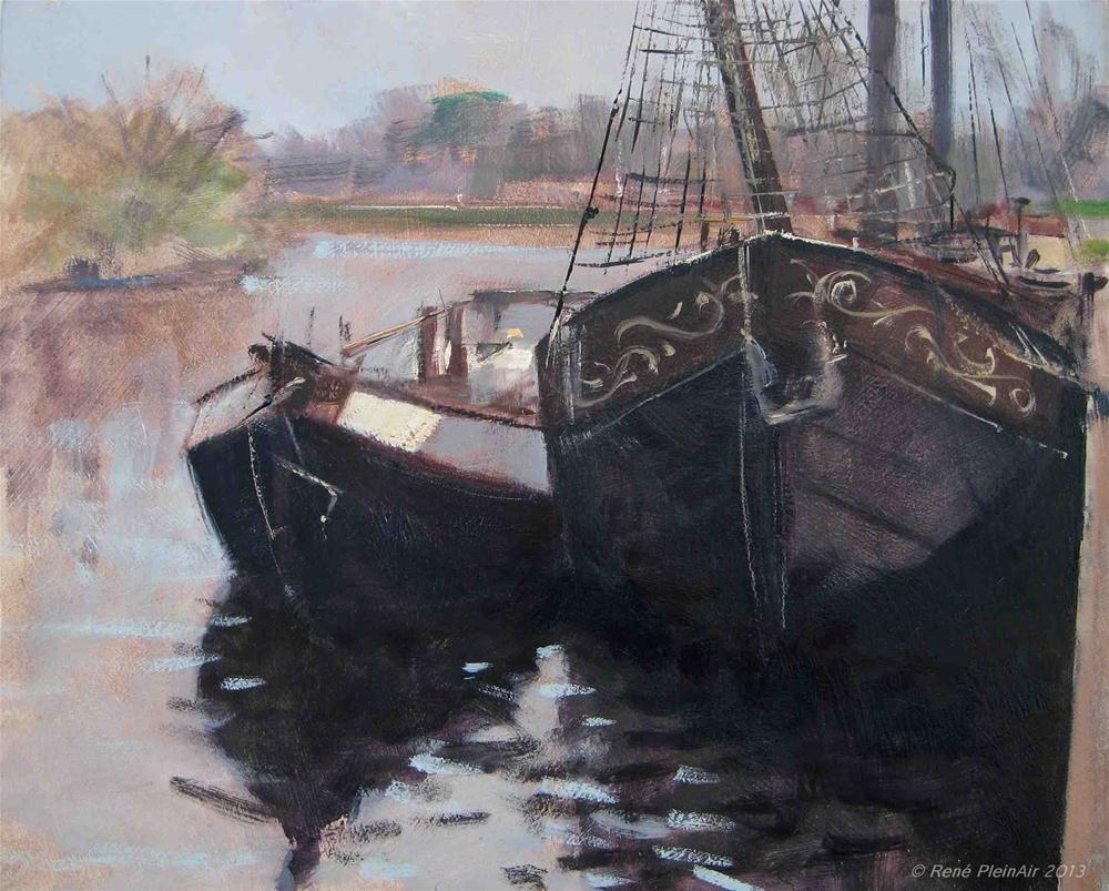 """""""Hans Scheepswerkplaats Doetinchem, Holland."""" original fine art by René PleinAir"""