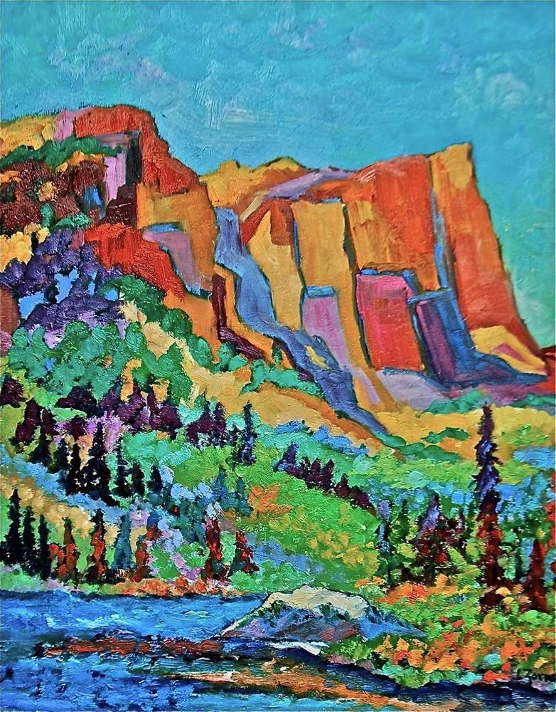 """Hallett Peak, Rocky Mountain National Park"" original fine art by Liz Zornes"