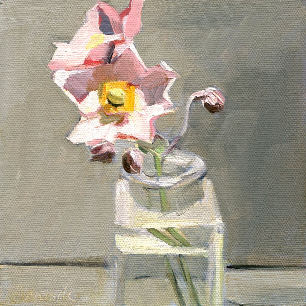 """Japanese Anemones"" original fine art by Gretchen Hancock"
