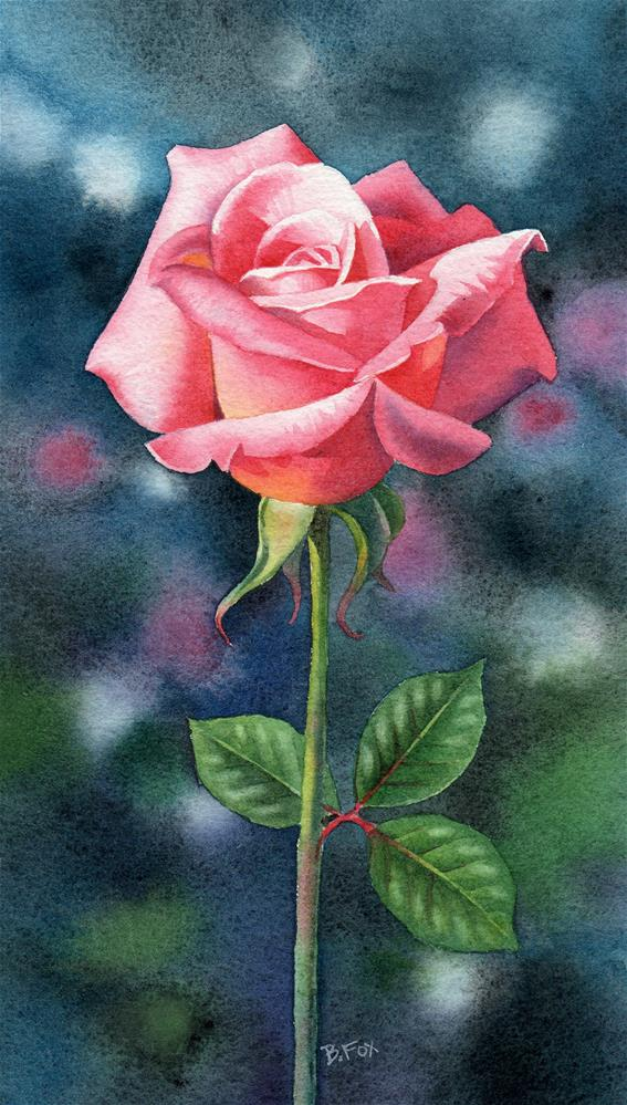 """Brandywine Rose"" original fine art by Barbara Fox"