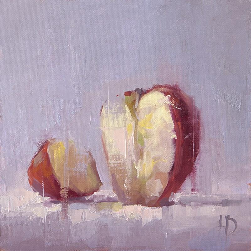 """Sliced Apple"" original fine art by Ollie Le Brocq"