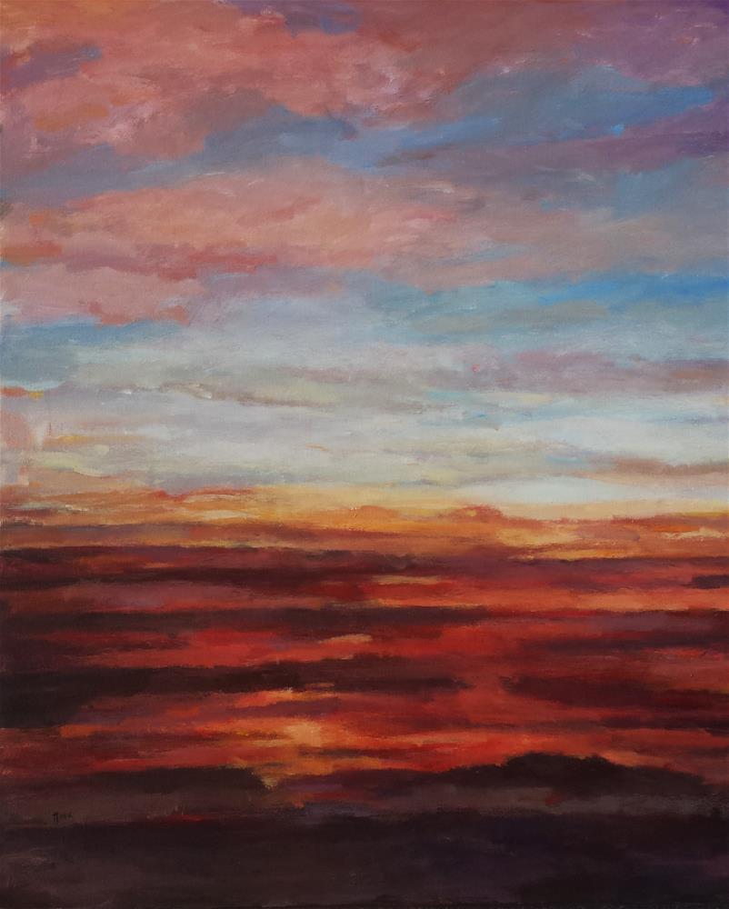 """A Sunset for Sara"" original fine art by Nava Judith"
