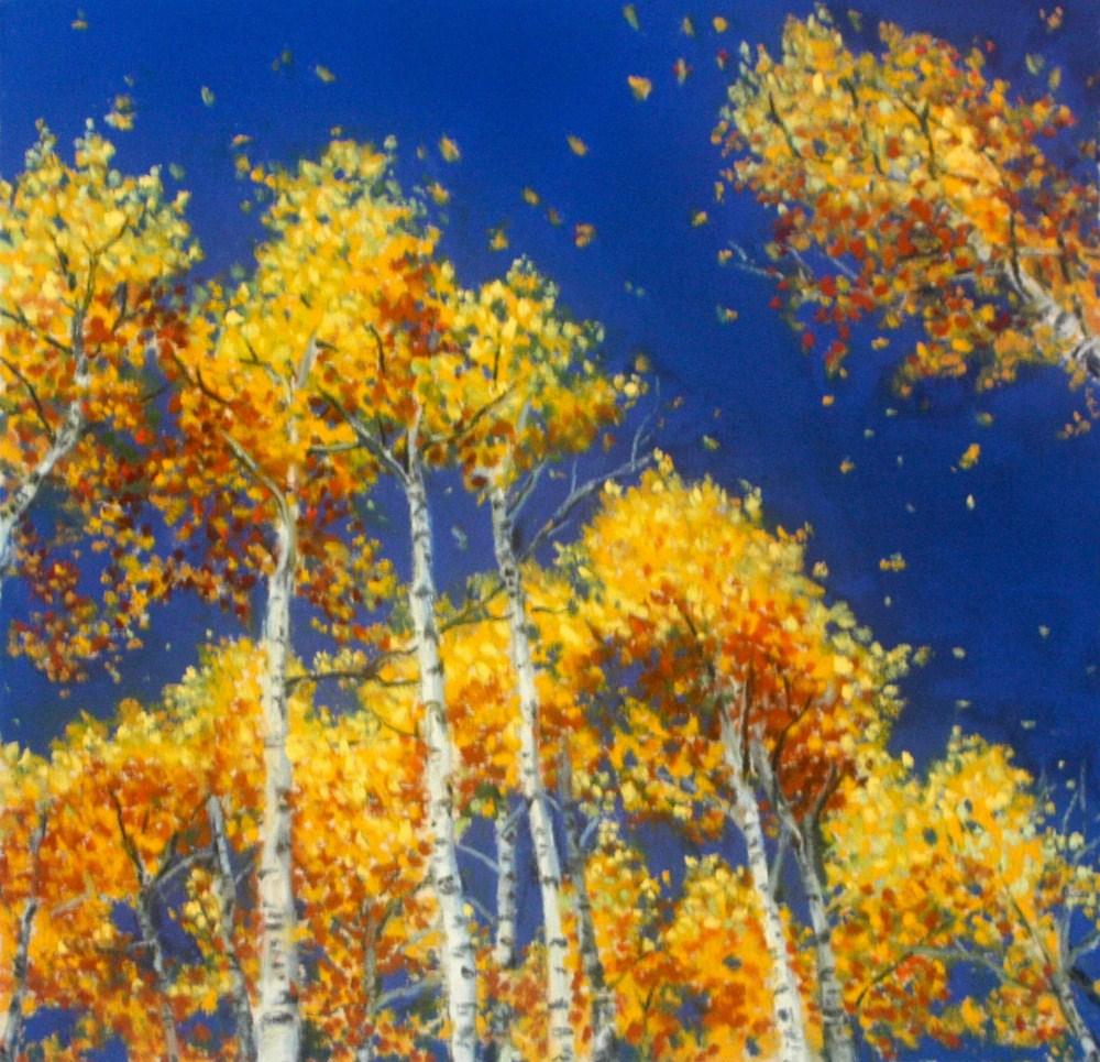 """Falling Gold"" original fine art by Jill Bates"