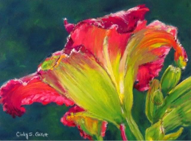 """Daylily"" original fine art by Cindy Gillett"