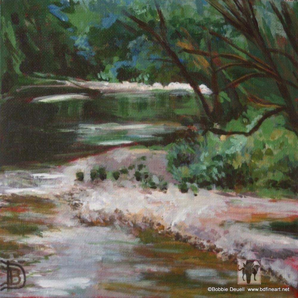 """#10 California Mountain Stream"" original fine art by Bobbie Deuell"