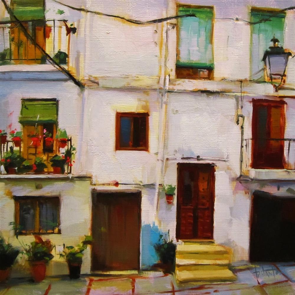 """""""Mosaico de ventanas"""" original fine art by Víctor Tristante"""