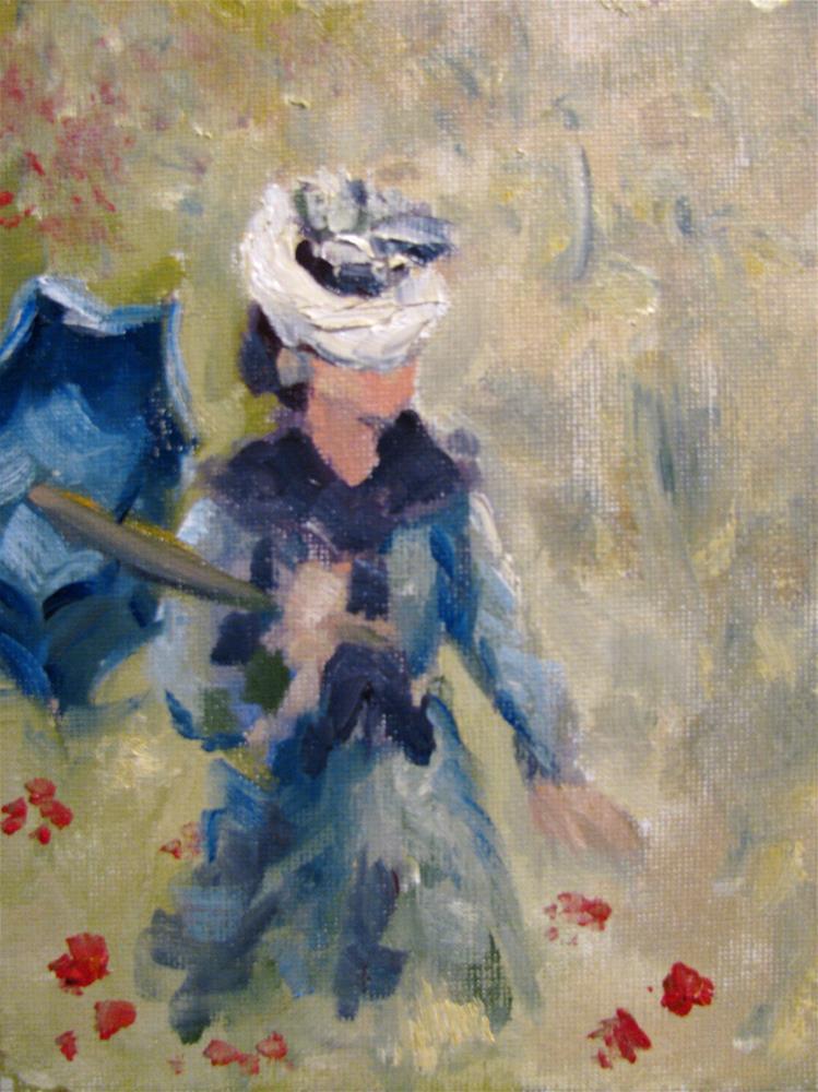 """""""Study of Claude Monet's Poppy Field"""" original fine art by Susan Elizabeth Jones"""