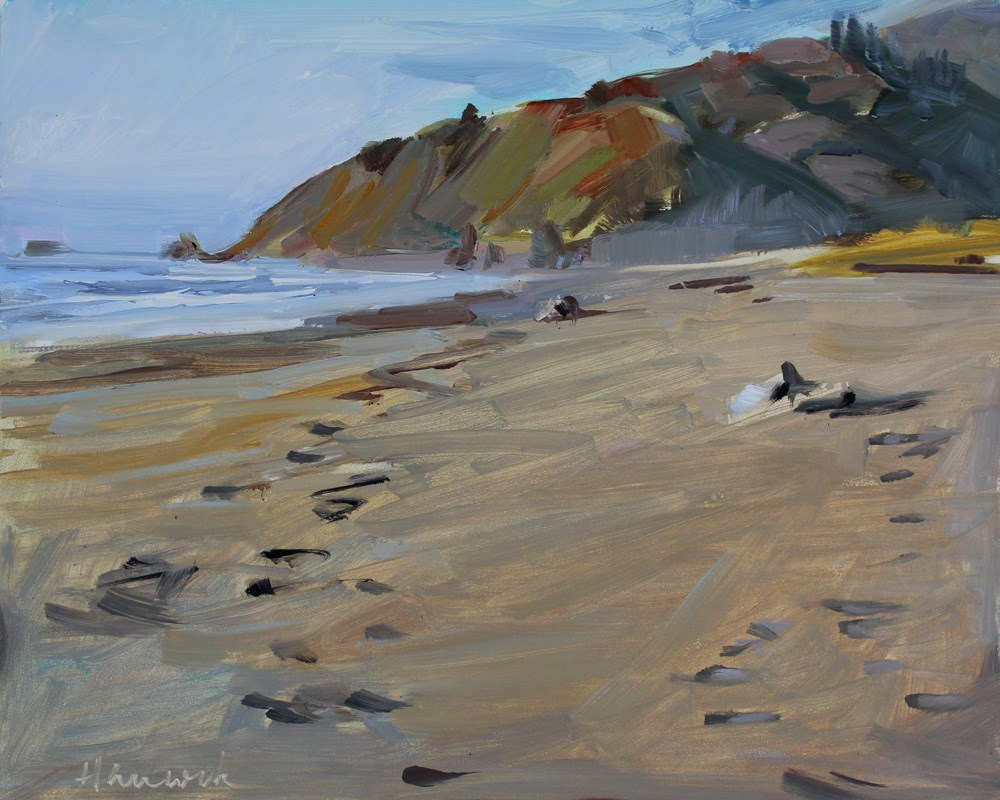 """Clam Beach at Orick"" original fine art by Gretchen Hancock"