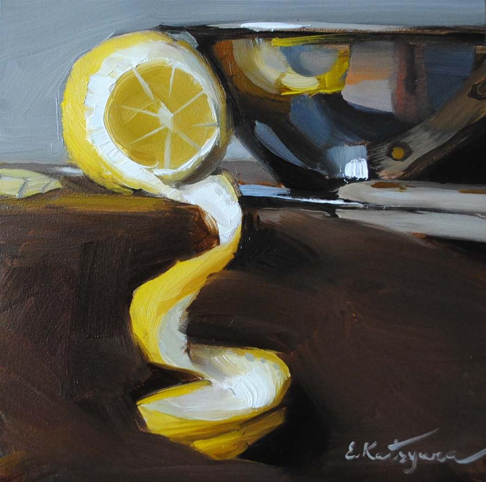 """Making  Lemonade"" original fine art by Elena Katsyura"