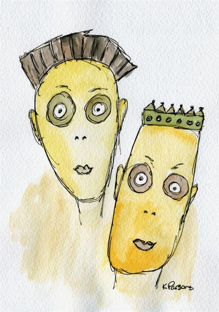 """Two Wacky Dudes"" original fine art by Kali Parsons"
