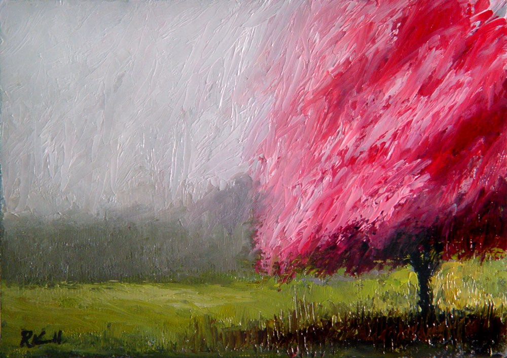 """The Cherry Tree"" original fine art by Bob Kimball"