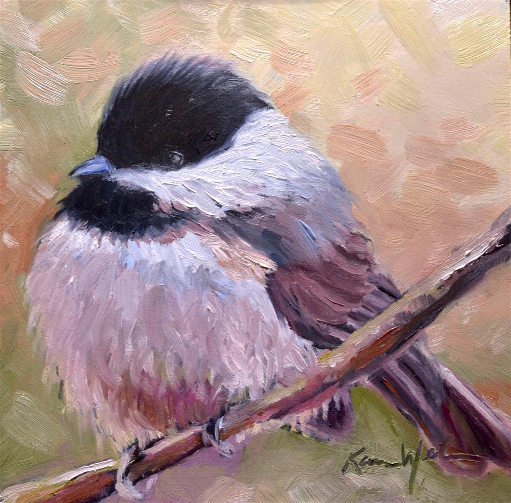 """Puff"" original fine art by Karen Weber"