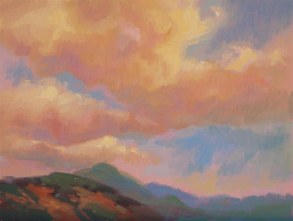 """West Hills Clouds"" original fine art by Karen E Lewis"