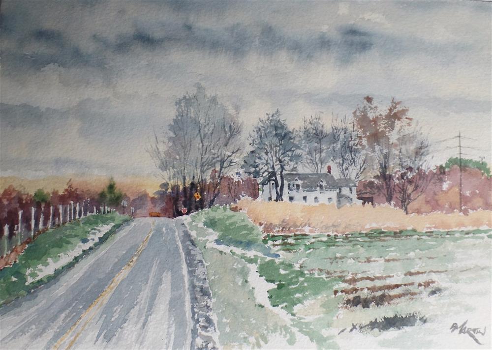 """last snow"" original fine art by paul martin"