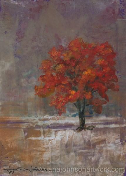 """Orange Tree 1"" original fine art by Jana Johnson"