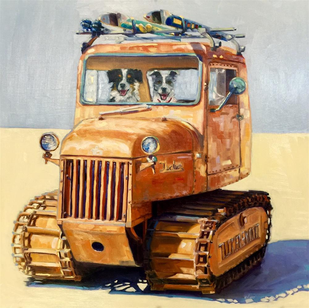 """""""TUCKER SNOCAT"""" original fine art by Mb Warner"""