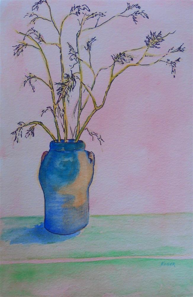 """BRANCHES IN A VASE"" original fine art by Mary Ellen Koser"