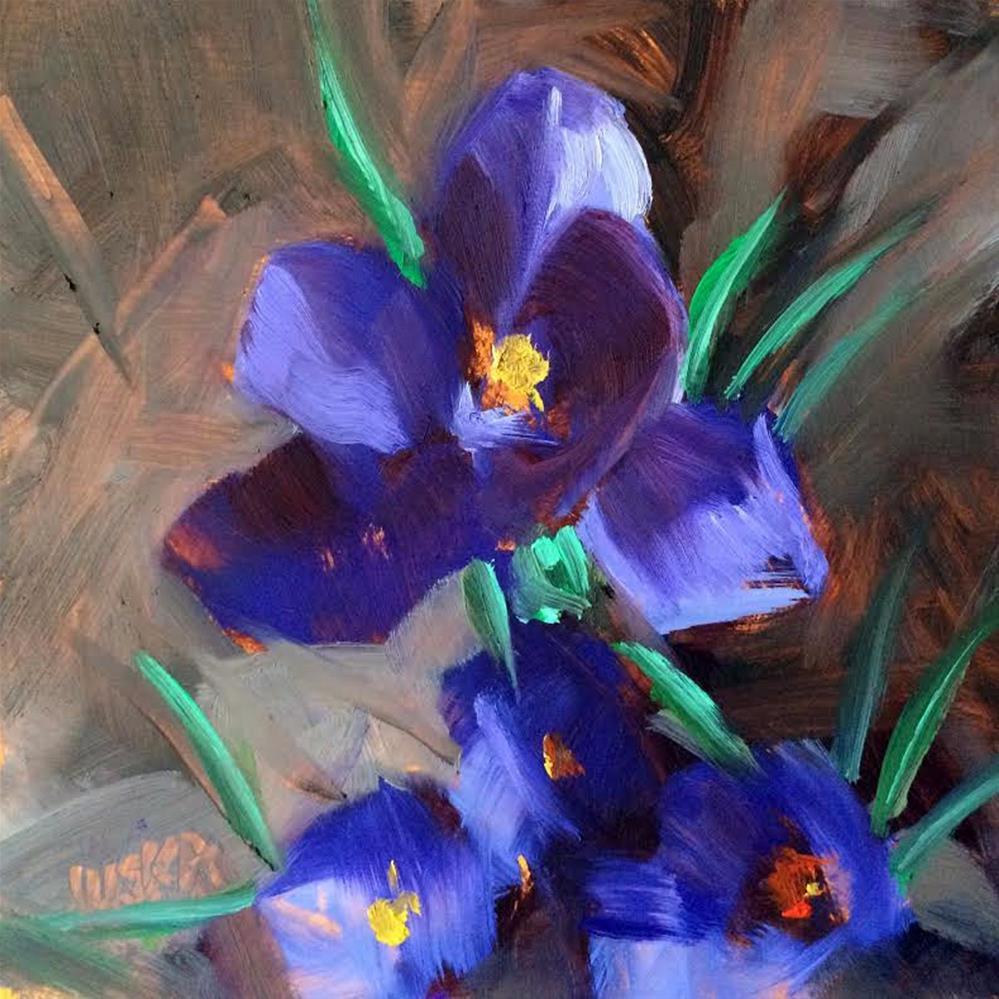 """Crocus"" original fine art by Elaine Juska Joseph"