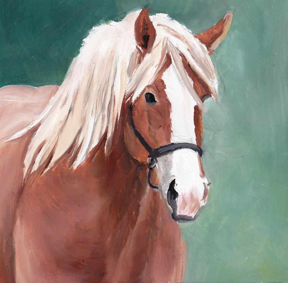 """Pony"" original fine art by Charlotte Yealey"