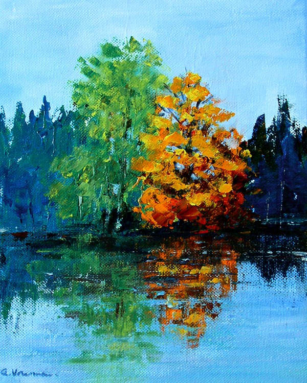 """Maple at the Edge of the Swamp"" original fine art by Anna Vreman"