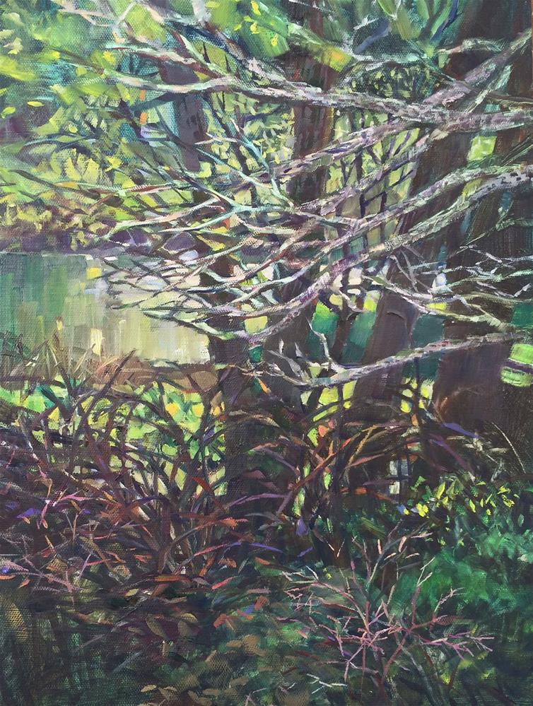 """In the woods"" original fine art by Nicoletta Baumeister"