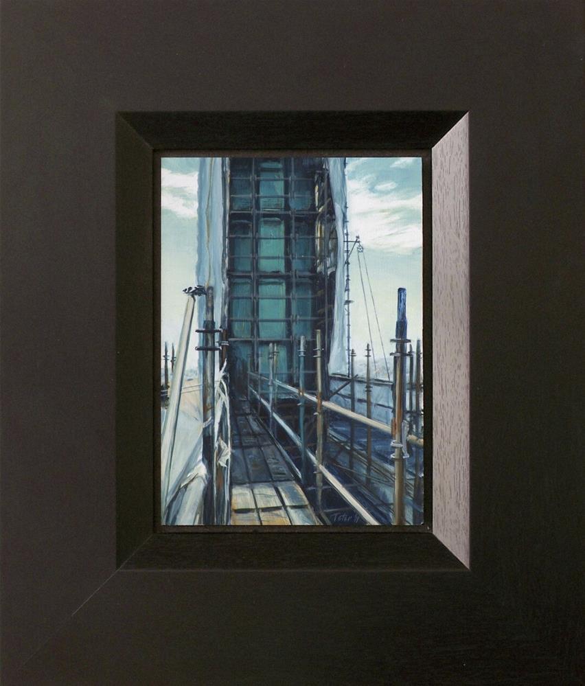 """Vincent Thomas Bridge #13"" original fine art by David J. Teter"