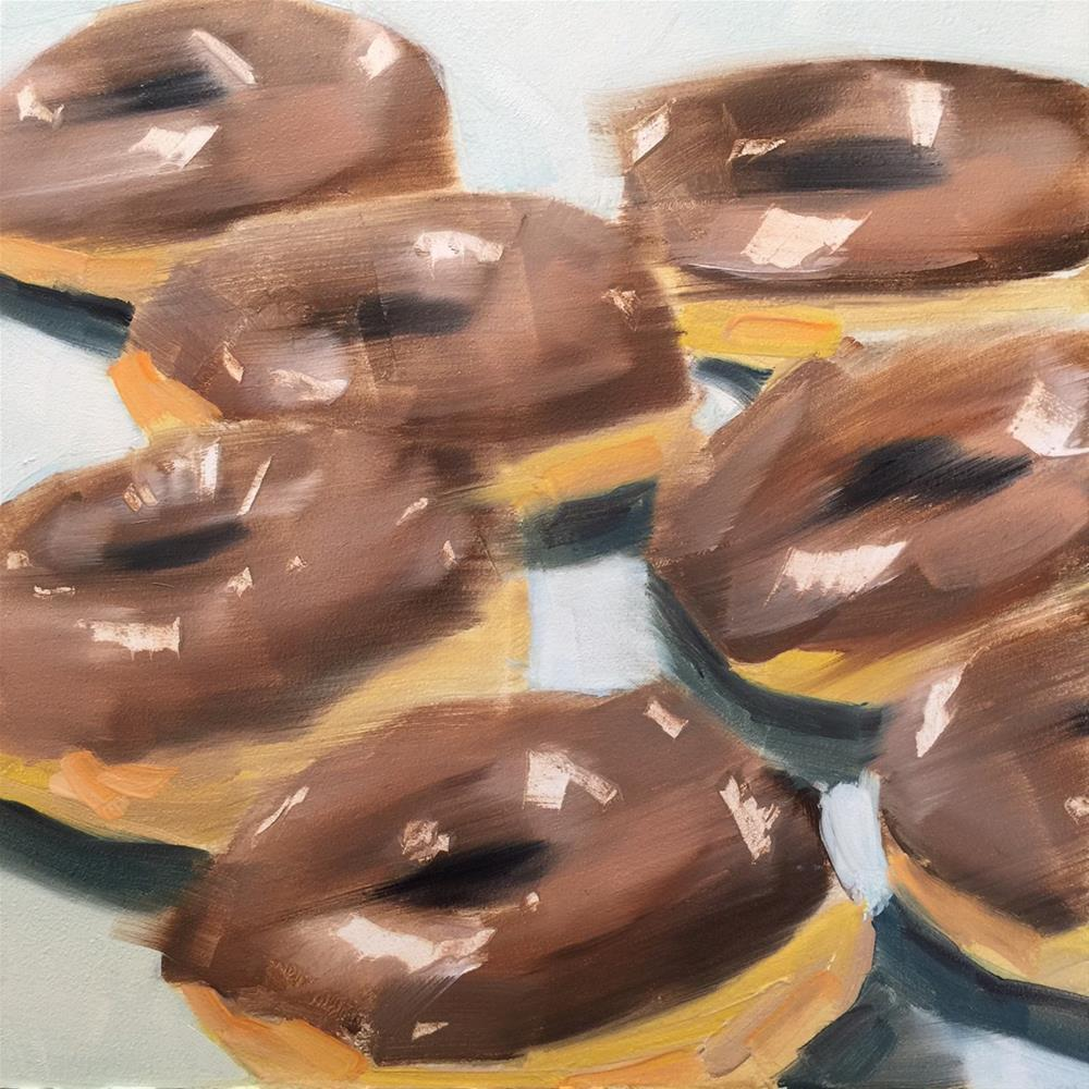 """268 Donut Day"" original fine art by Jenny Doh"