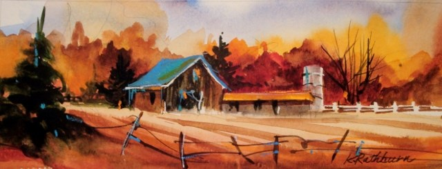 """FAll in the Country"" original fine art by Kathy Los-Rathburn"