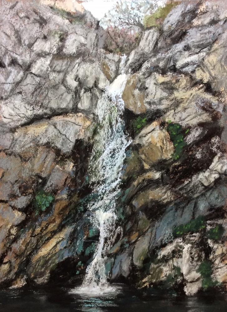 """STURDEVANT FALLS"" original fine art by Marti Walker"