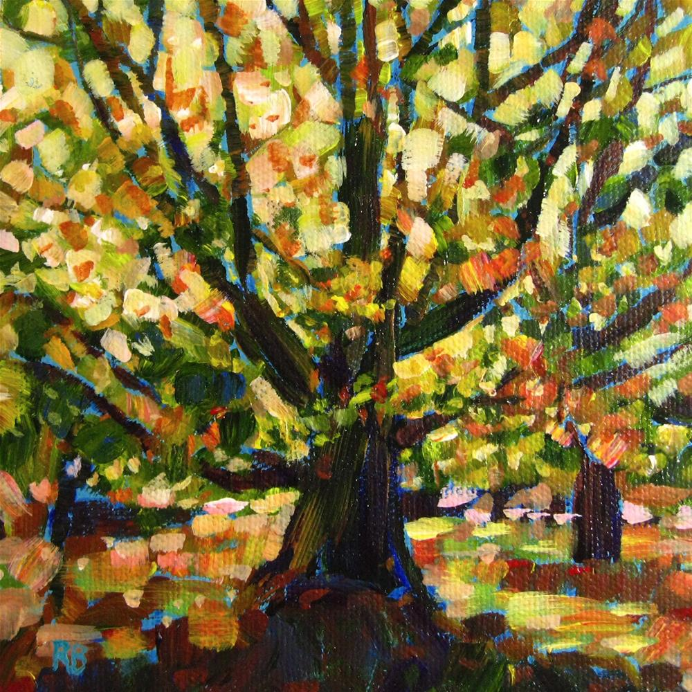 """Vibrant Tree I"" original fine art by Robie Benve"