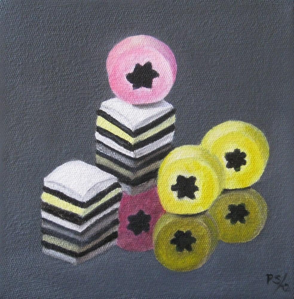 """Liquorice Allsorts III"" original fine art by Pera Schillings"