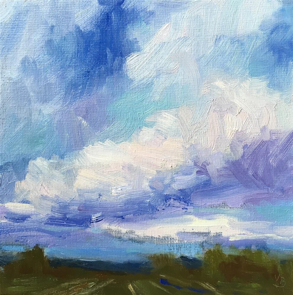 """Cloud Study"" original fine art by Victoria  Biedron"