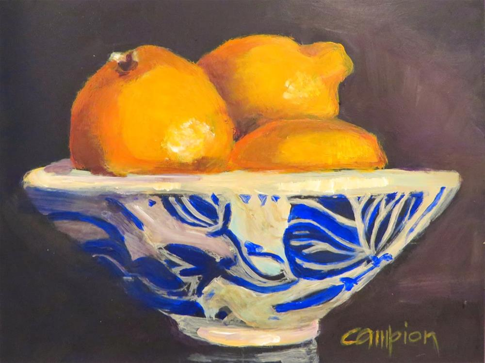"""536 Meyer Lemons"" original fine art by Diane Campion"