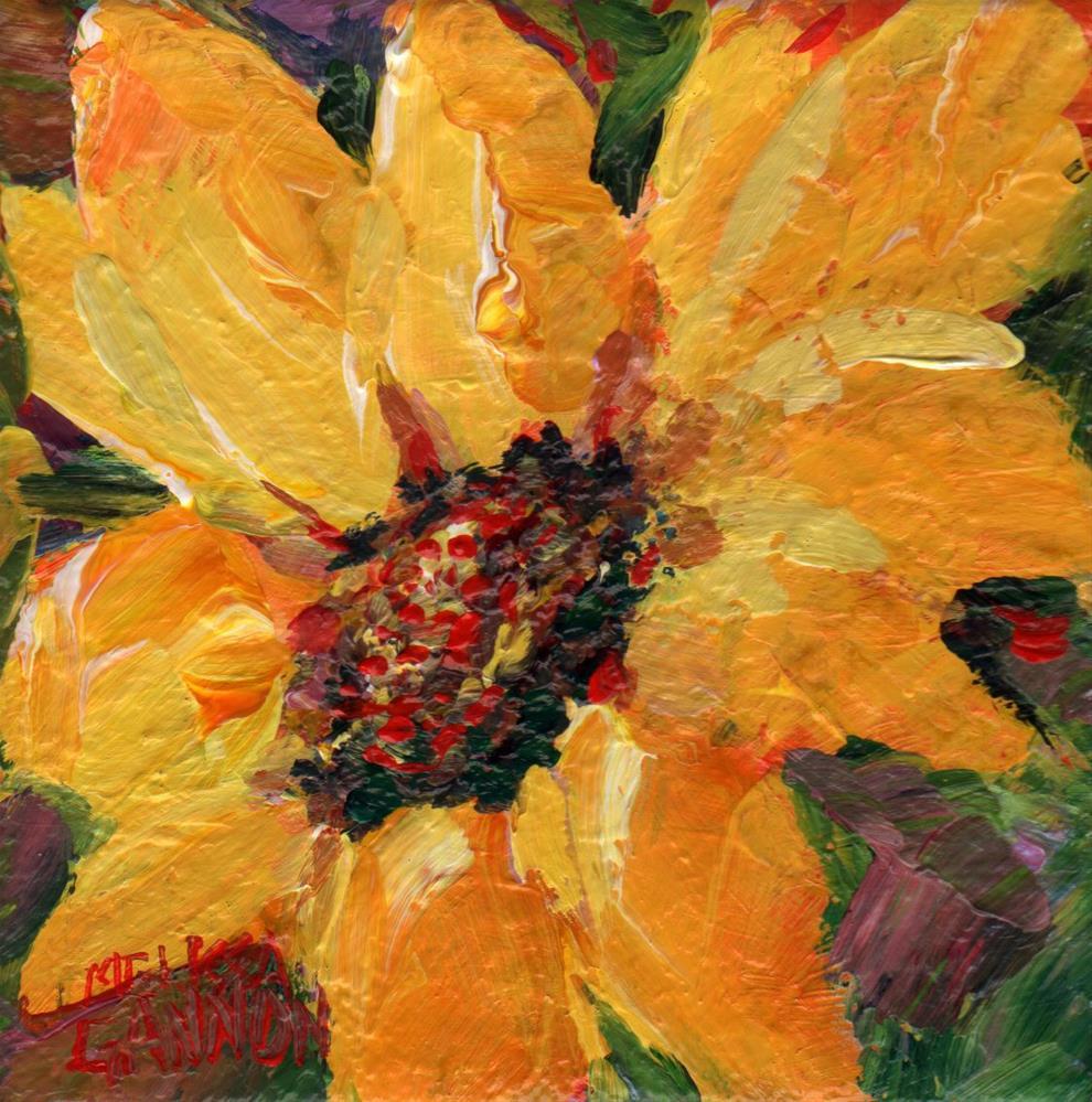 """Sunshine Petals"" original fine art by Melissa Gannon"