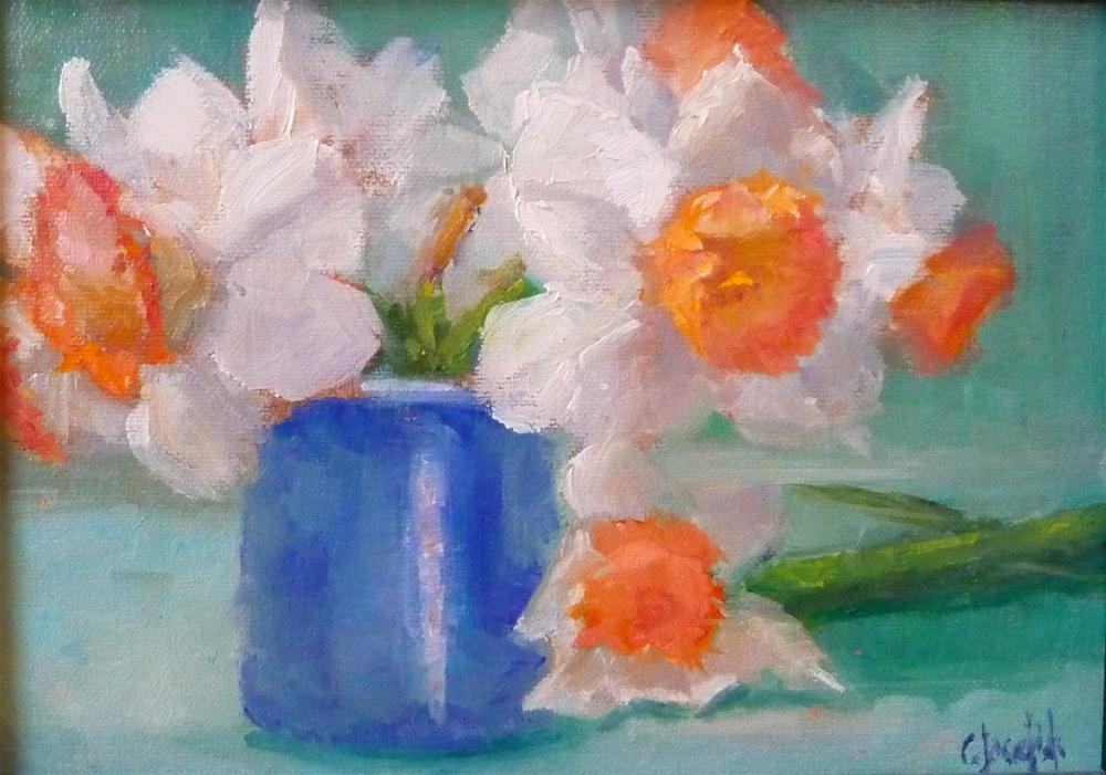 """Daffodils"" original fine art by Carol Josefiak"