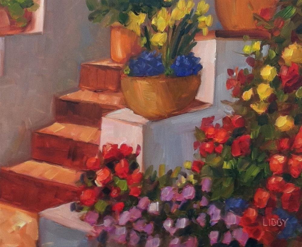 """""""California Steps"""" original fine art by Libby Anderson"""