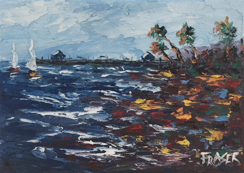 """Pier I"" original fine art by Ken Fraser"