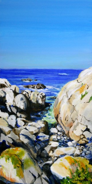 """Rocks and the Sea"" original fine art by JoAnne Perez Robinson"