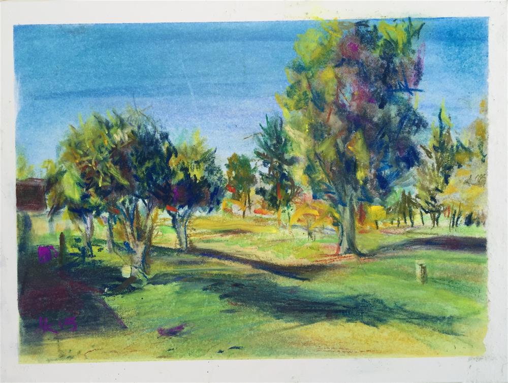 """""""Sun City, AZ, Golf Course"""" original fine art by Jean Krueger"""