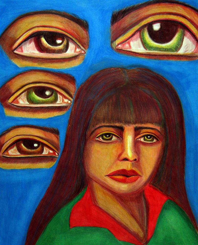 """A Symphony of Sorrowful Eyes"" original fine art by Terri Brown-Davidson"