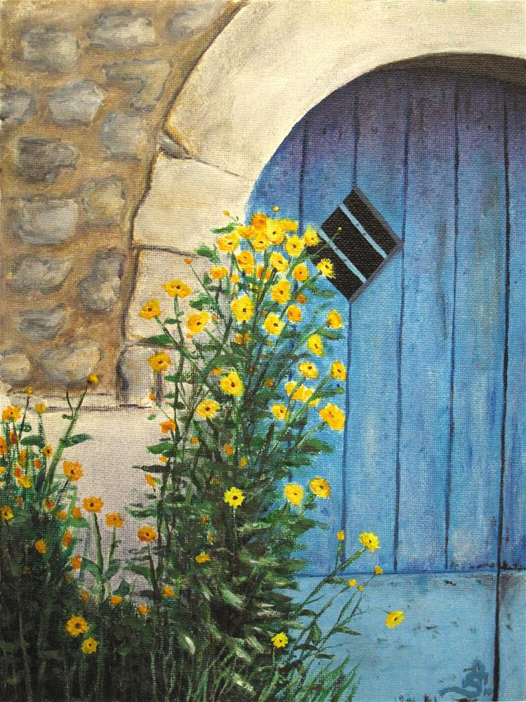 """Blue door"" original fine art by Anna Starkova"