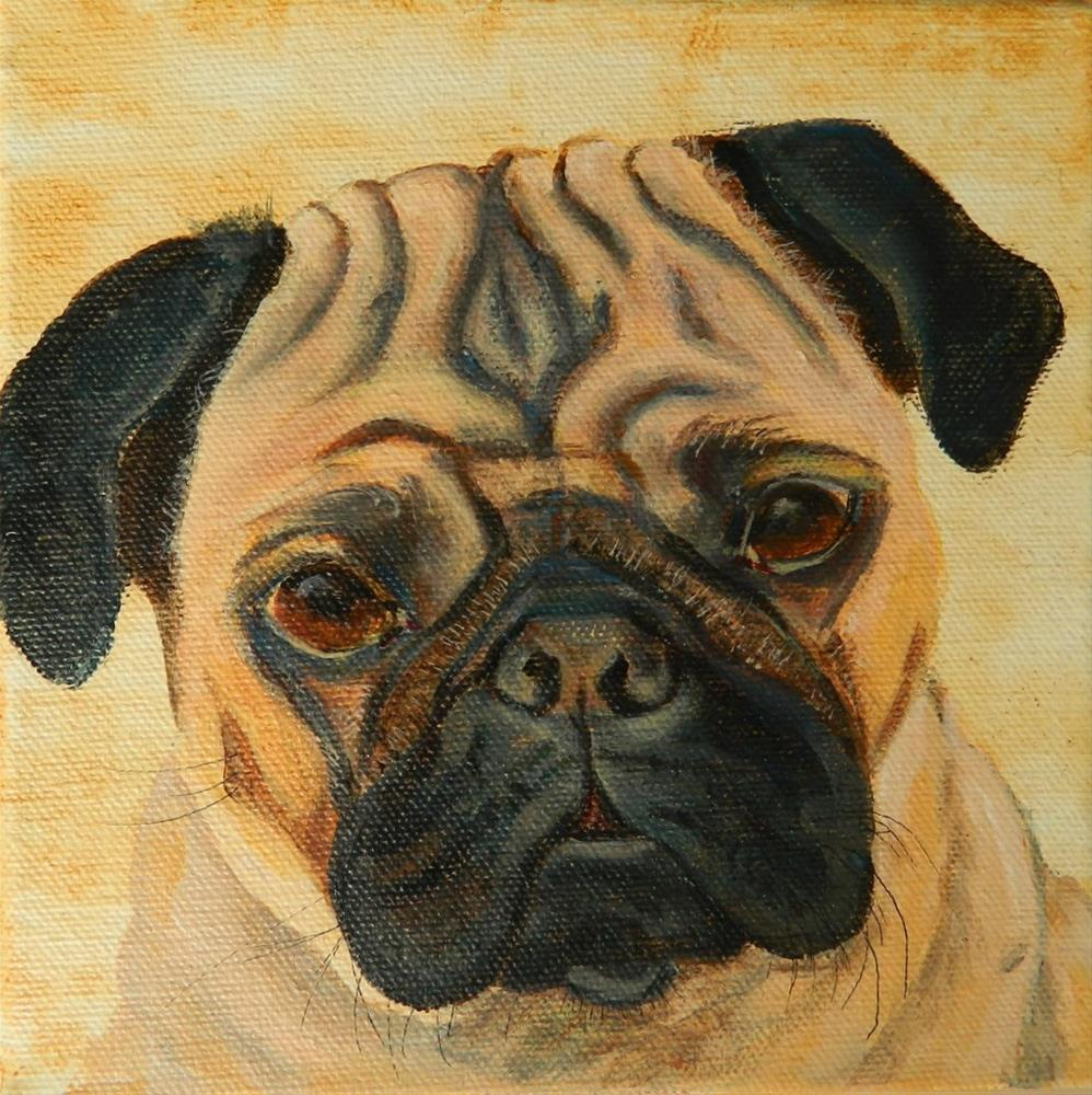 """Pug"" original fine art by Gloria Urban"