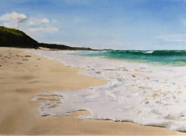 """Cornish Blue"" original fine art by James Coates"
