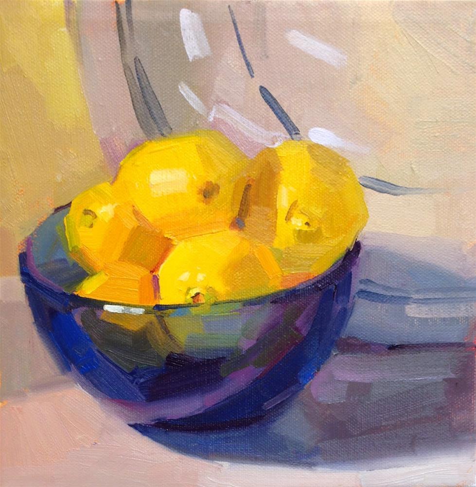 """Limited Palette Lemons"" original fine art by Sarah Sedwick"