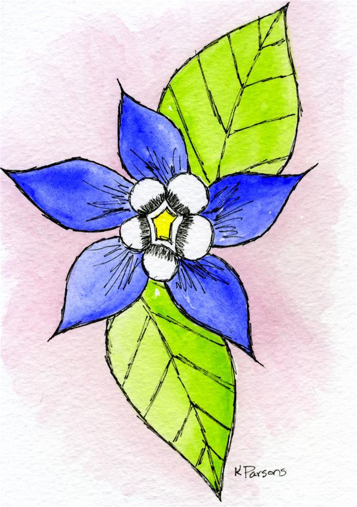 """Blue Joy"" original fine art by Kali Parsons"