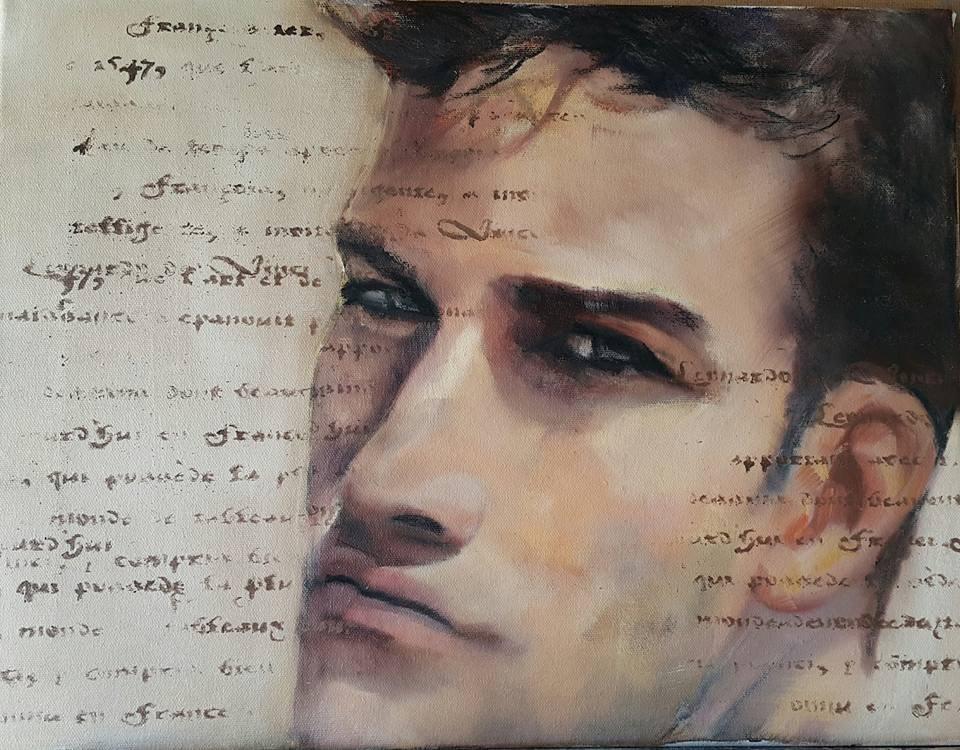 """Counting my words"" original fine art by Rentia Coetzee"