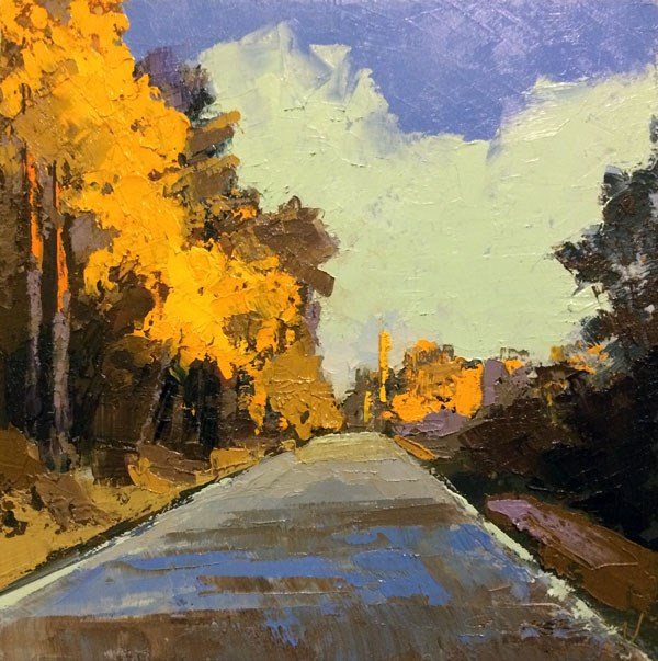 """Highway, Afternoon Light"" original fine art by Mary Gilkerson"