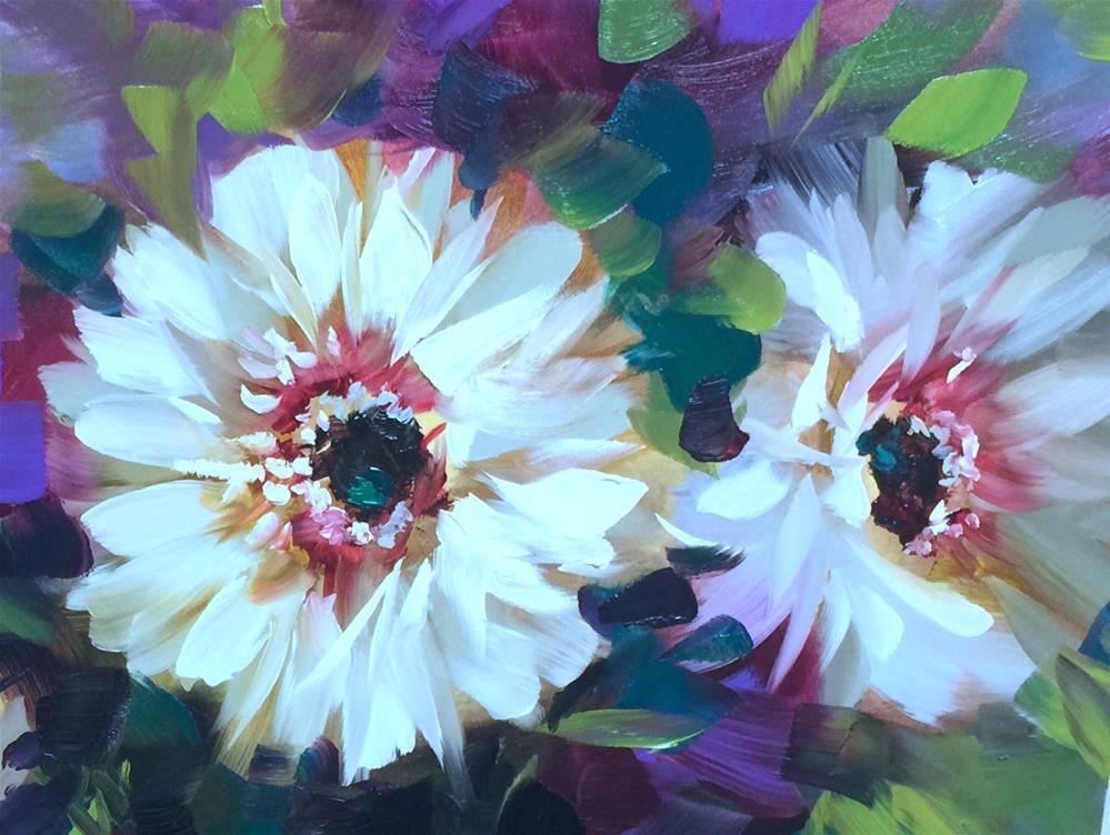 """Daisy Duo"" original fine art by Nancy Medina"
